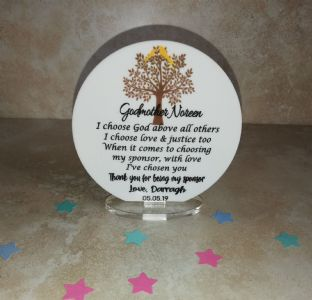 Thank You for being my Confirmation Sponsor Circle  Plaque